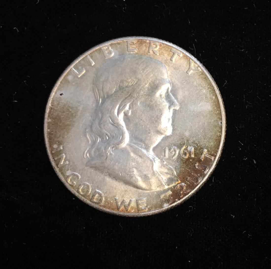 1961-P 50c Franklin Half Dollar AU