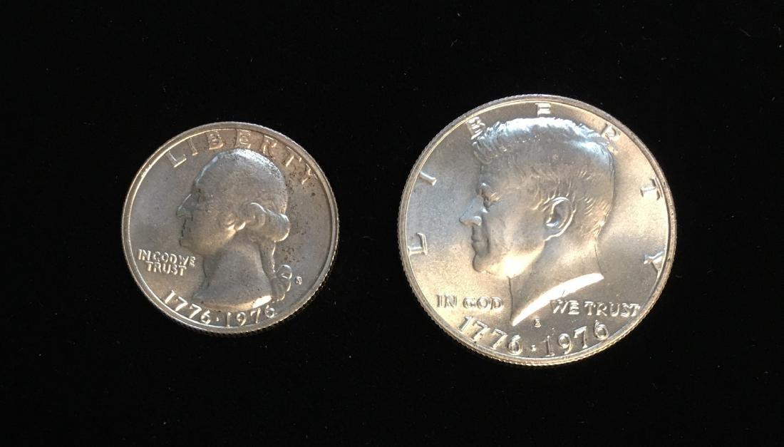 1976-S Bicentennial Pair - Washington Silver Quarter BU