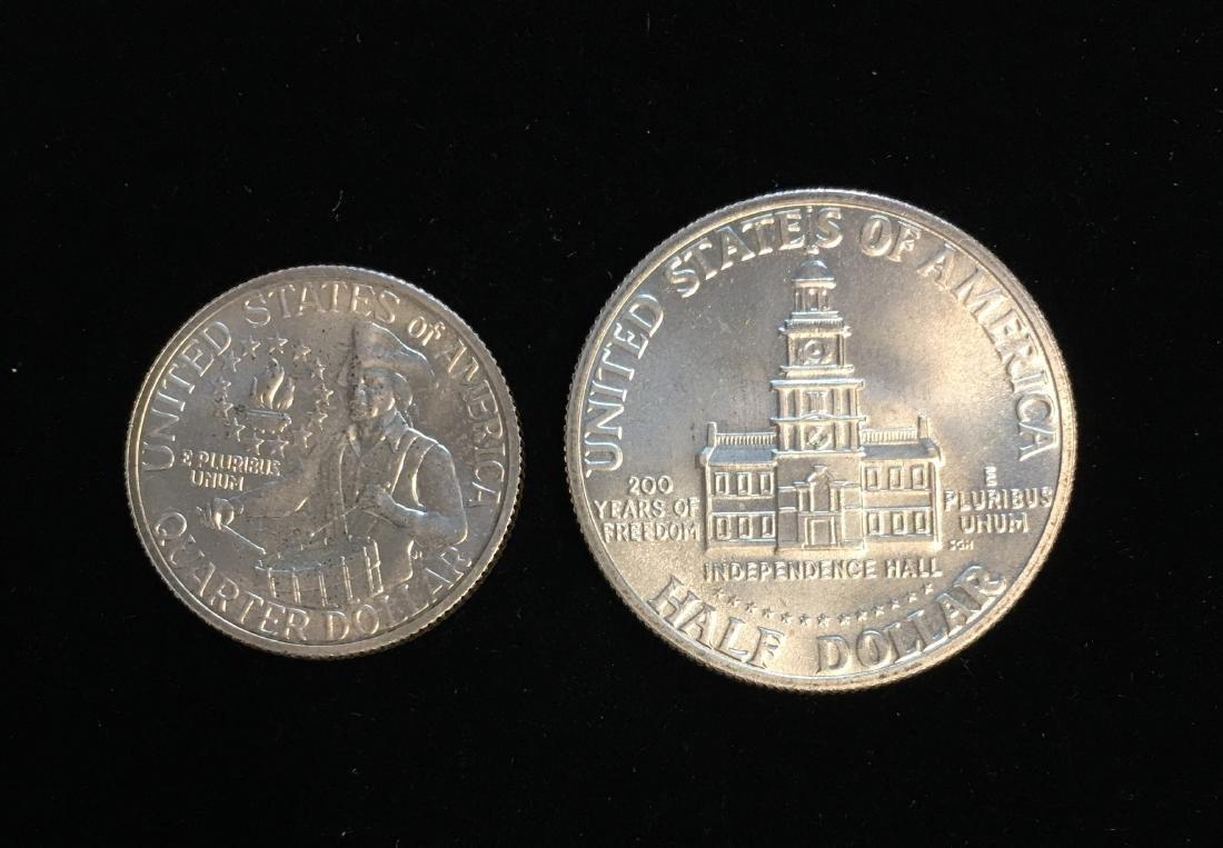 1976-S Bicentennial Pair - Washington Silver Quarter BU - 2