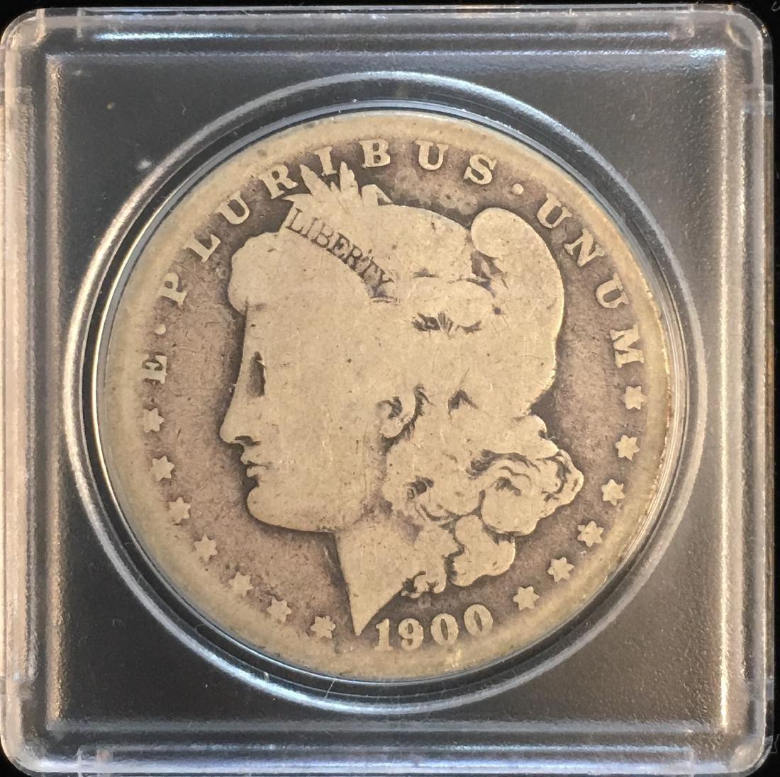 1900-S $1 Morgan Silver Dollar AG/G
