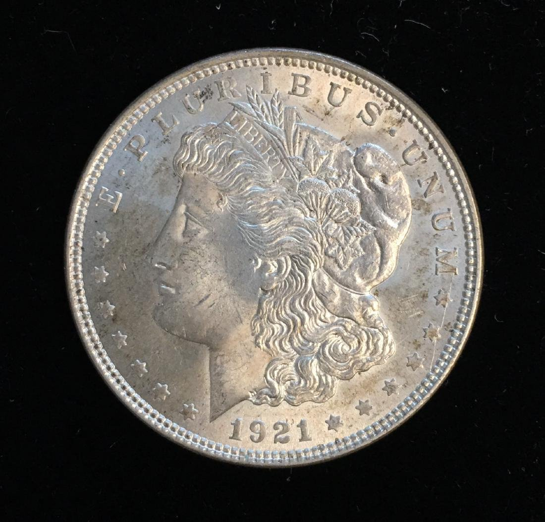 1921-P $1 Morgan Silver Dollar BU