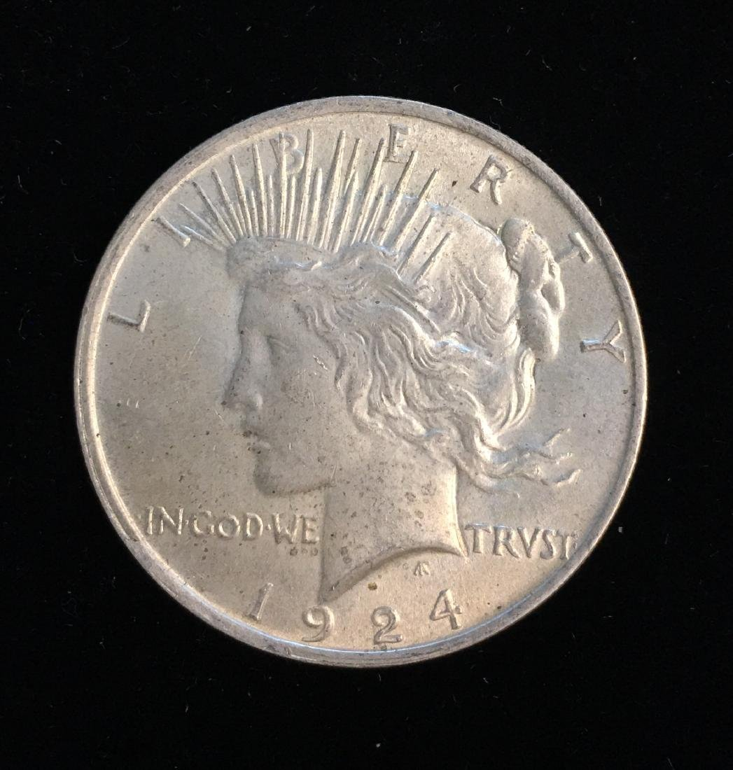 1924-P $1 Peace Silver Dollar Unc.