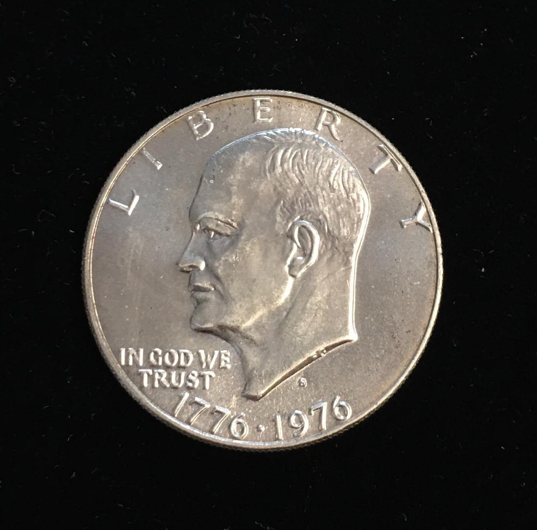 1976-S $1 Eisenhower Dollar 40% Silver Bicentennial BU