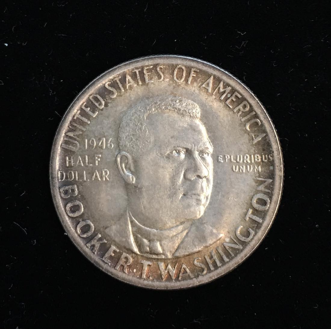 1946-P 50C Booker T. Washington Silver Commemorative