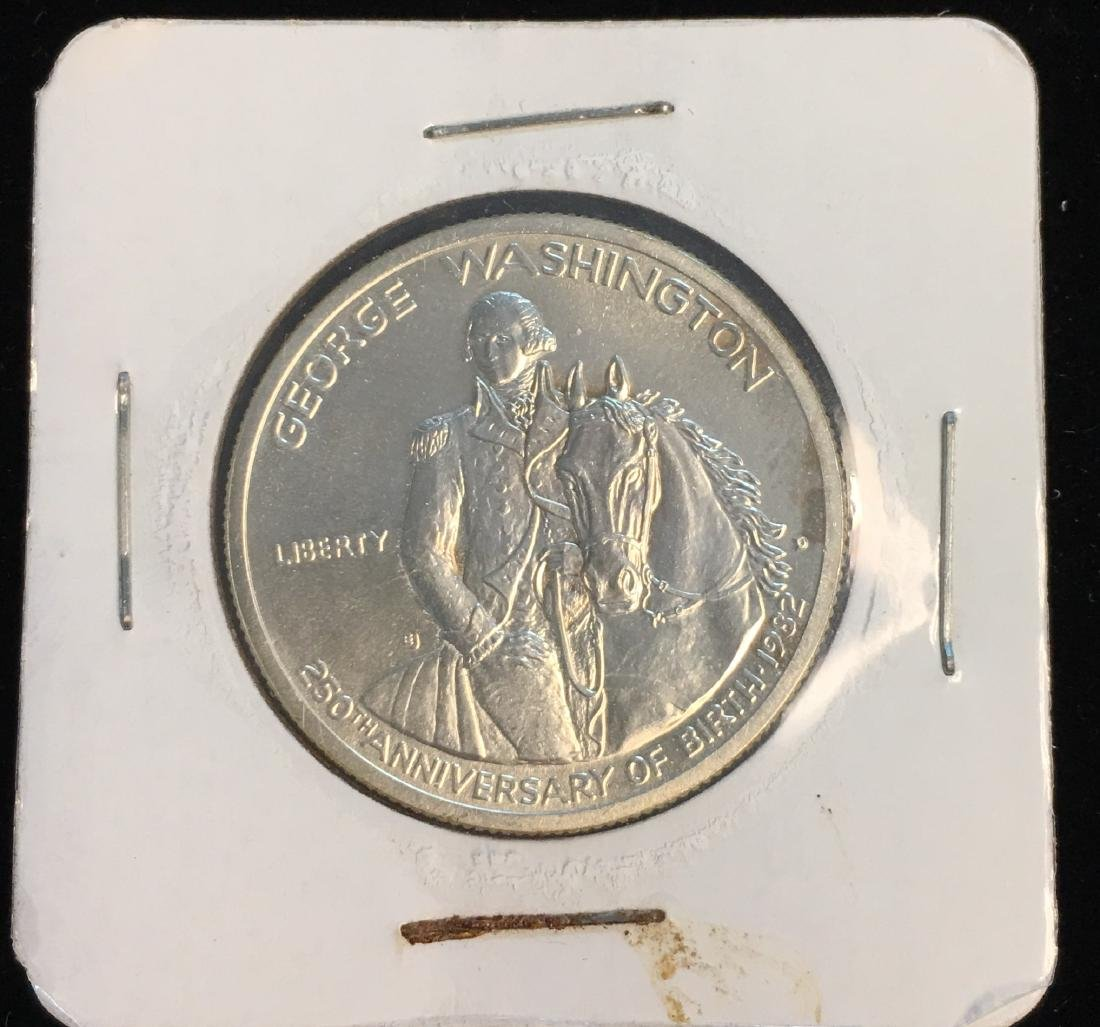 1982-D 50C G.Washington Modern Commemorative Silver