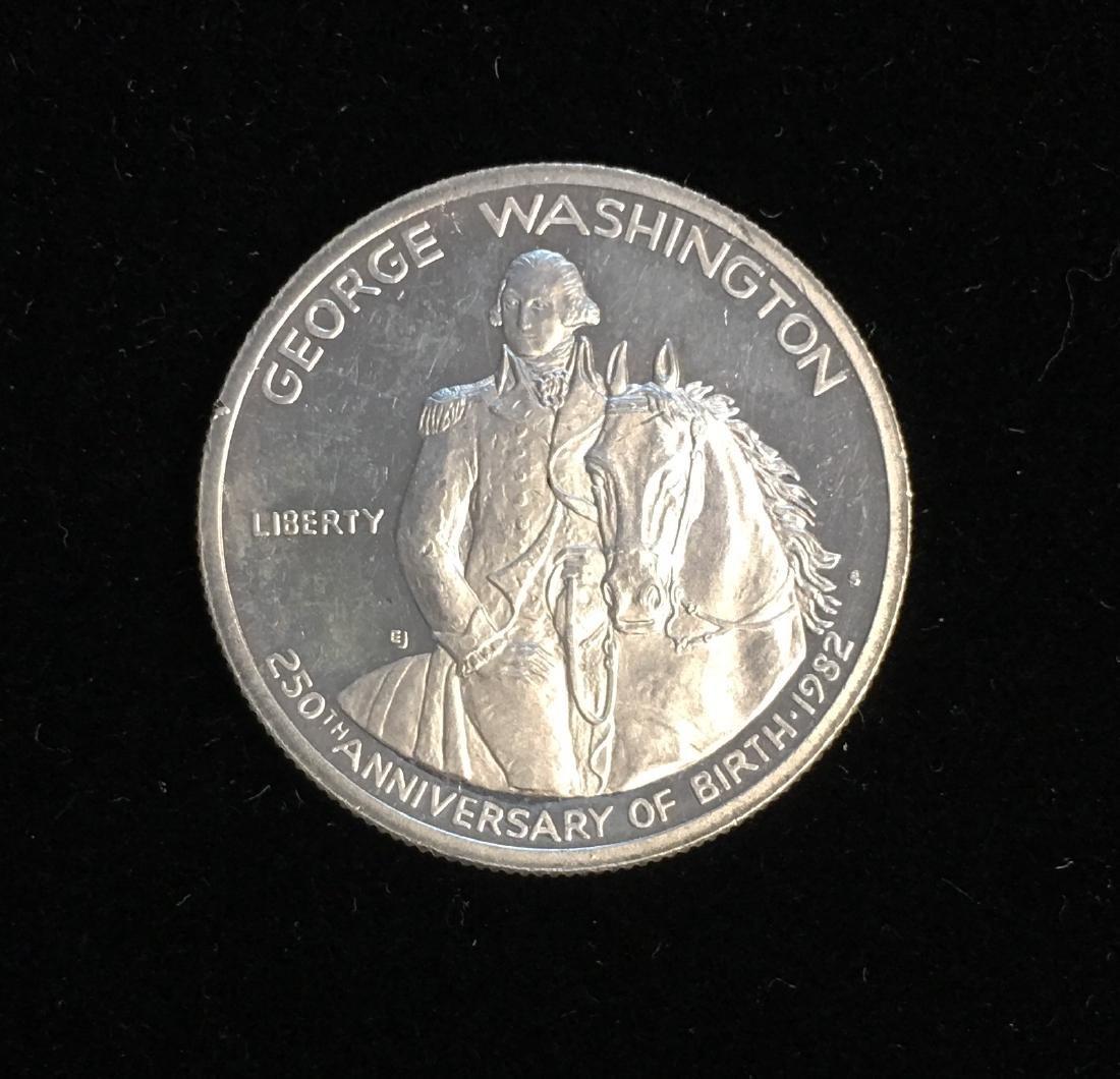 1982-S 50C G.Washington Modern Commemorative Silver