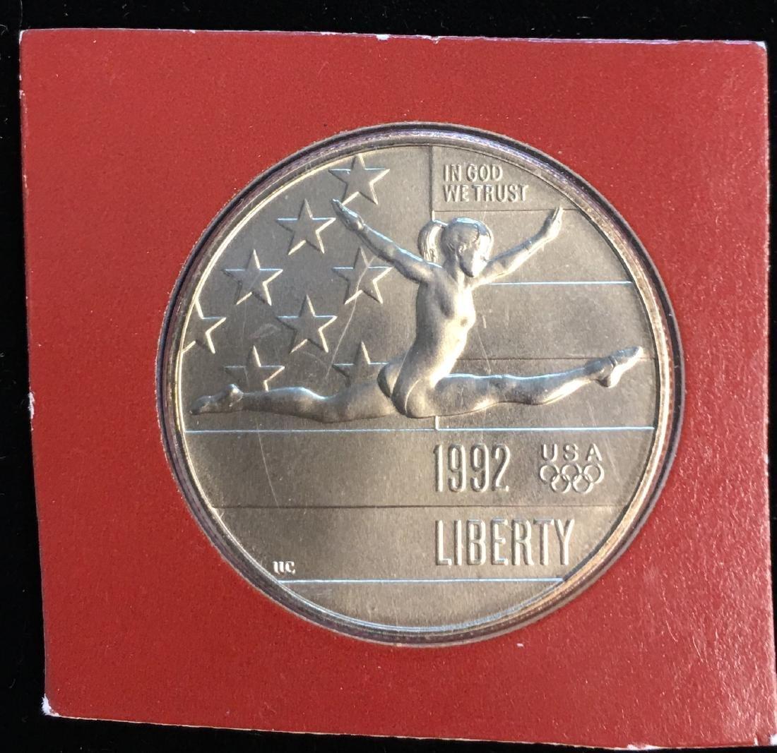 1992-P 50c XXV Olympiad Modern Commemorative Silver