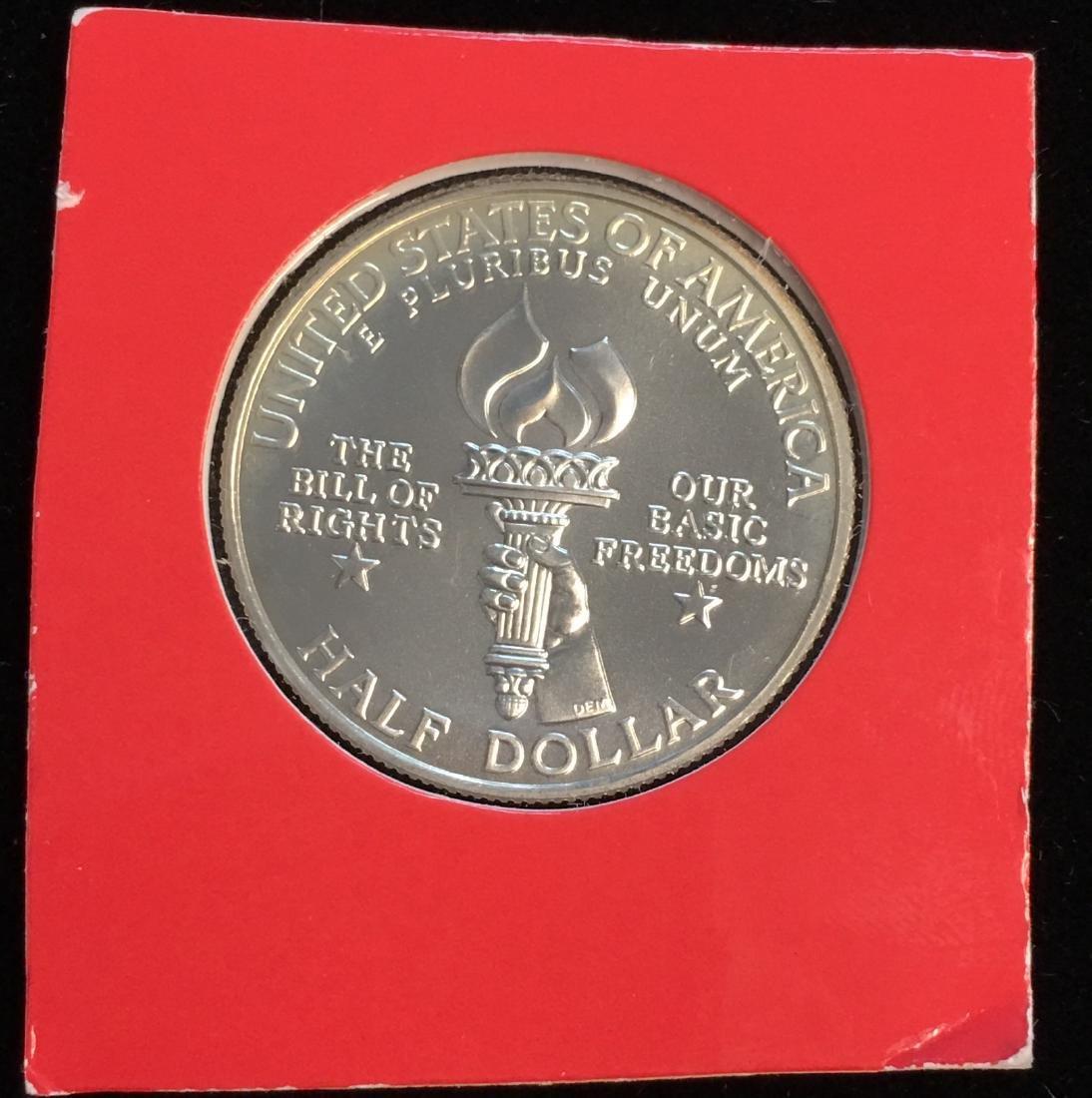 1993-W 50c Bill of Rights Modern Commemorative Silver - 2