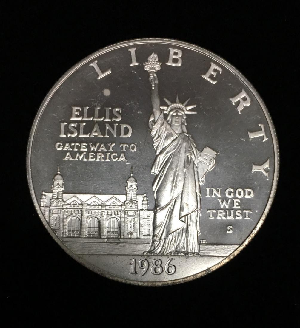 1986-S $1 Statue of Liberty Commemorative Silver Dollar