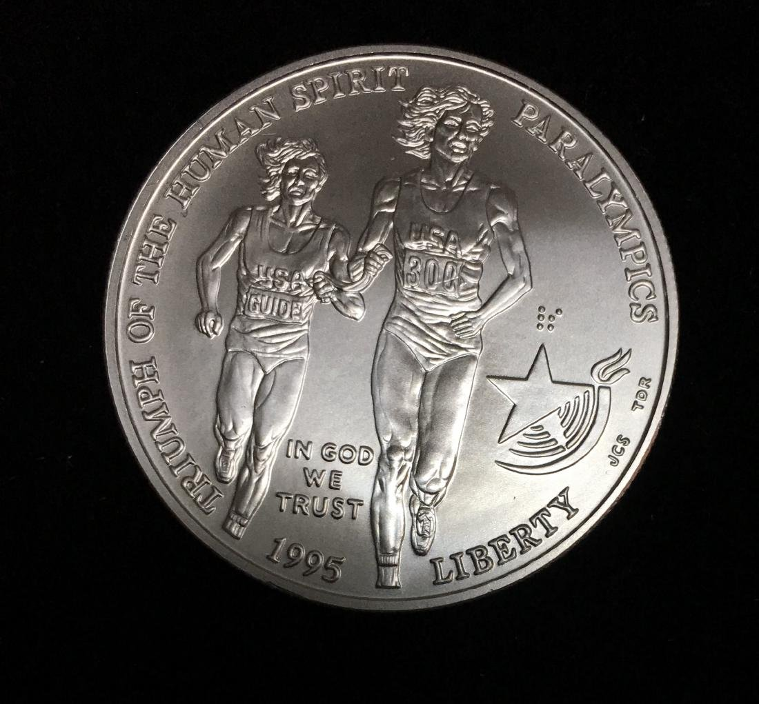 1995-D $1 XXVI Olympiad - Blind Runner Commemorative