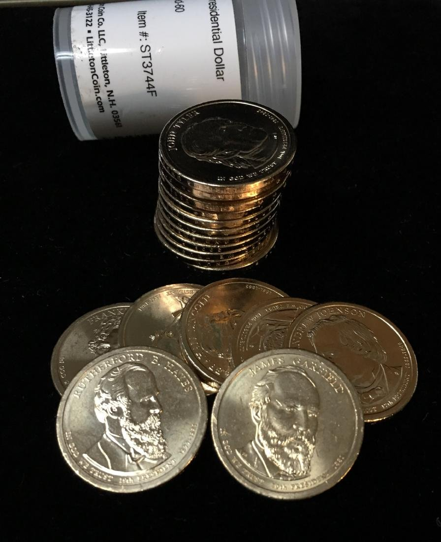 Uncirculated. Presidential dollars 20 coins 2007-2011 D or P