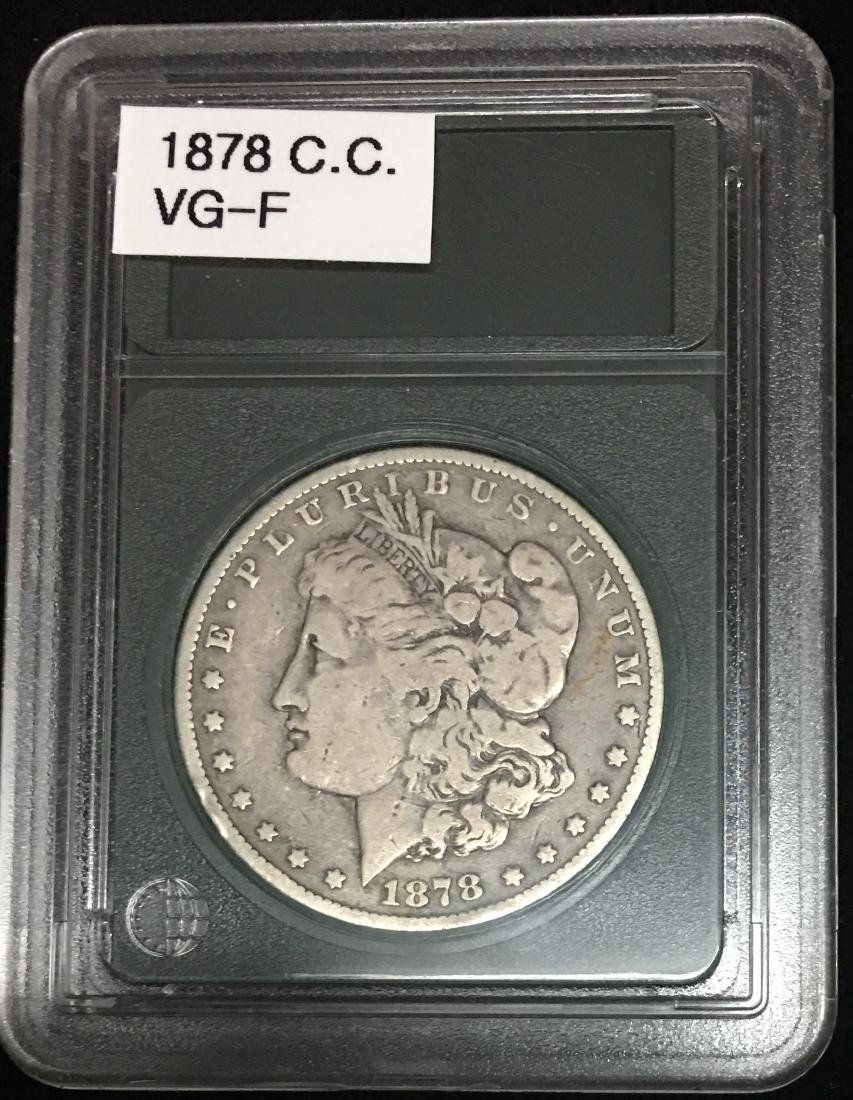 1878-CC $1 Morgan Silver Dollar VG-F