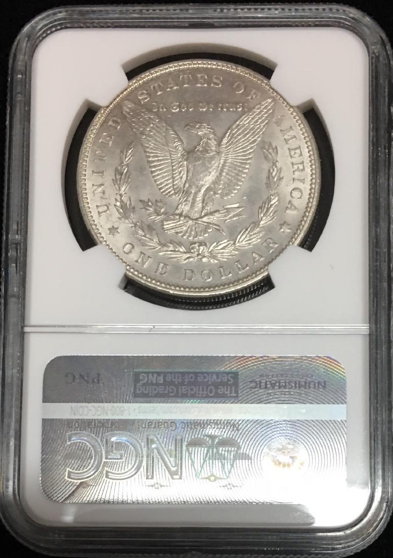 1887-P $1 Morgan Silver Dollar NGC MS62 Obverse Toning - 2