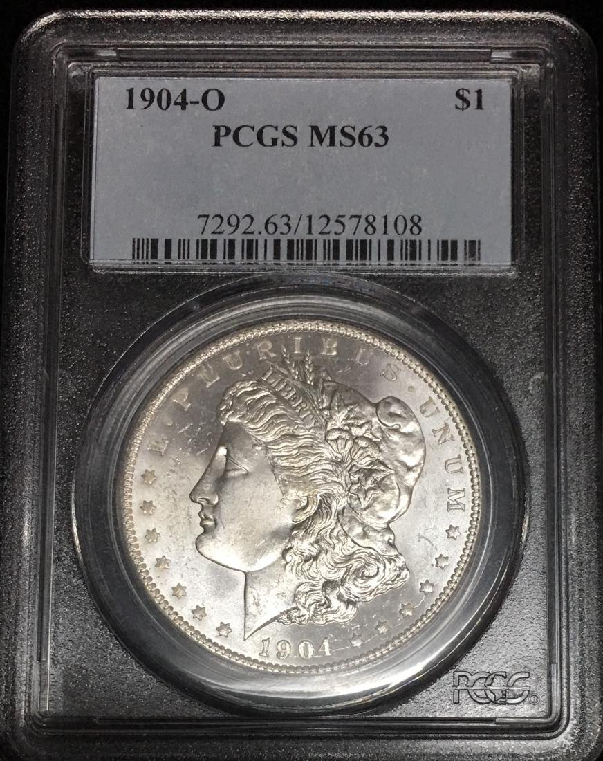 1904-O $1 Morgan Silver Dollar PCGS MS63 Original