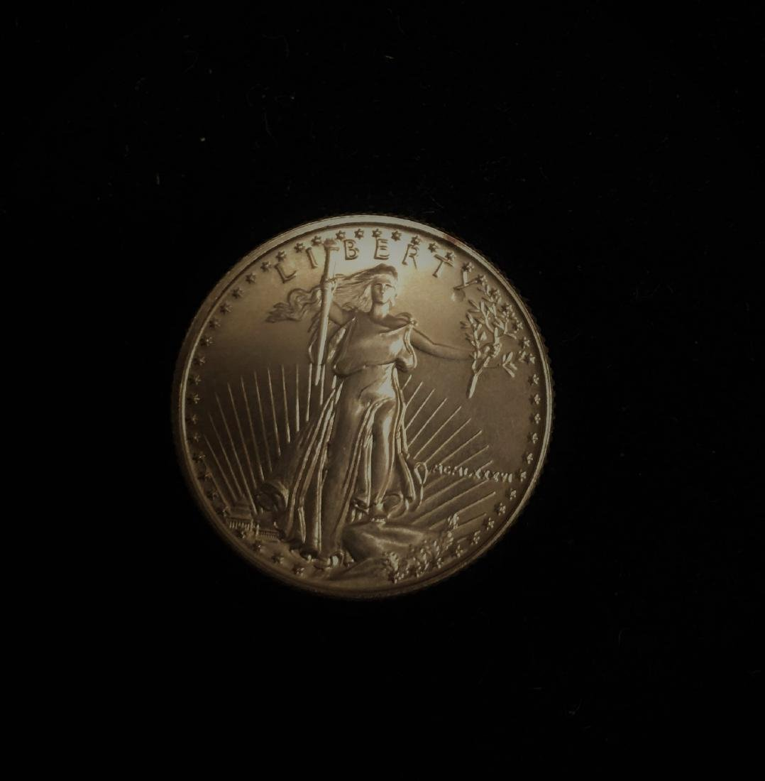1986 $10 American Gold Eagle 1/4 oz Fine Gold GBU