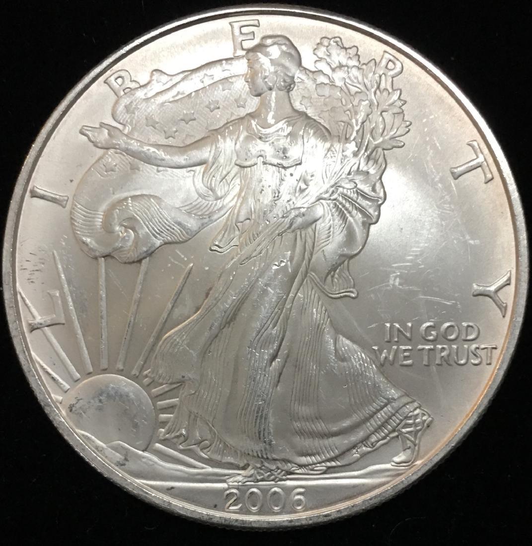 2006 $1 American Silver Eagle 1 oz. Fine Silver BU