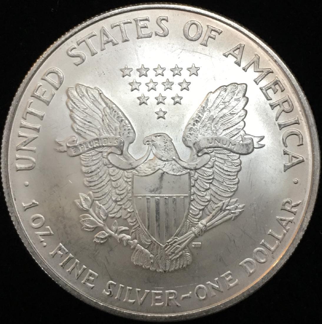 2006 $1 American Silver Eagle 1 oz. Fine Silver BU - 2