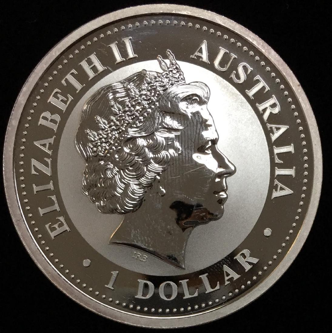 2001 $1 Australia Kookaburra 1 oz .999 Silver GBU