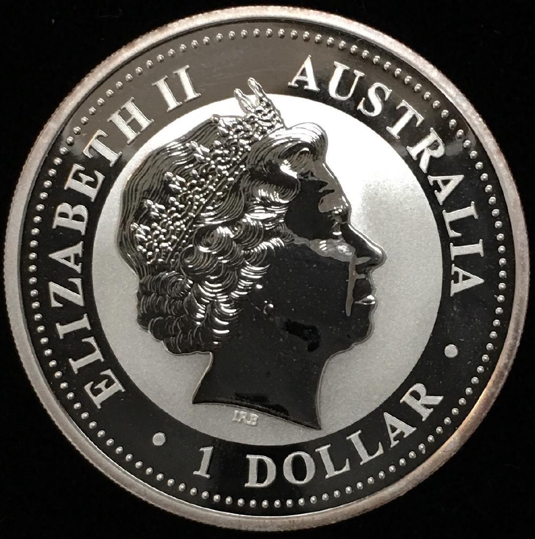 2009 $1 Australia Kookaburra 1 oz .999 Silver GBU