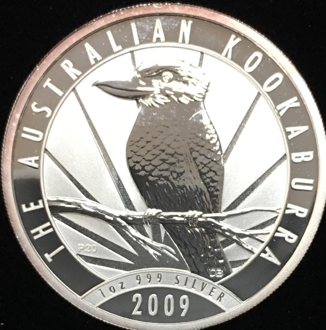 2009 $1 Australia Kookaburra 1 oz .999 Silver GBU - 2