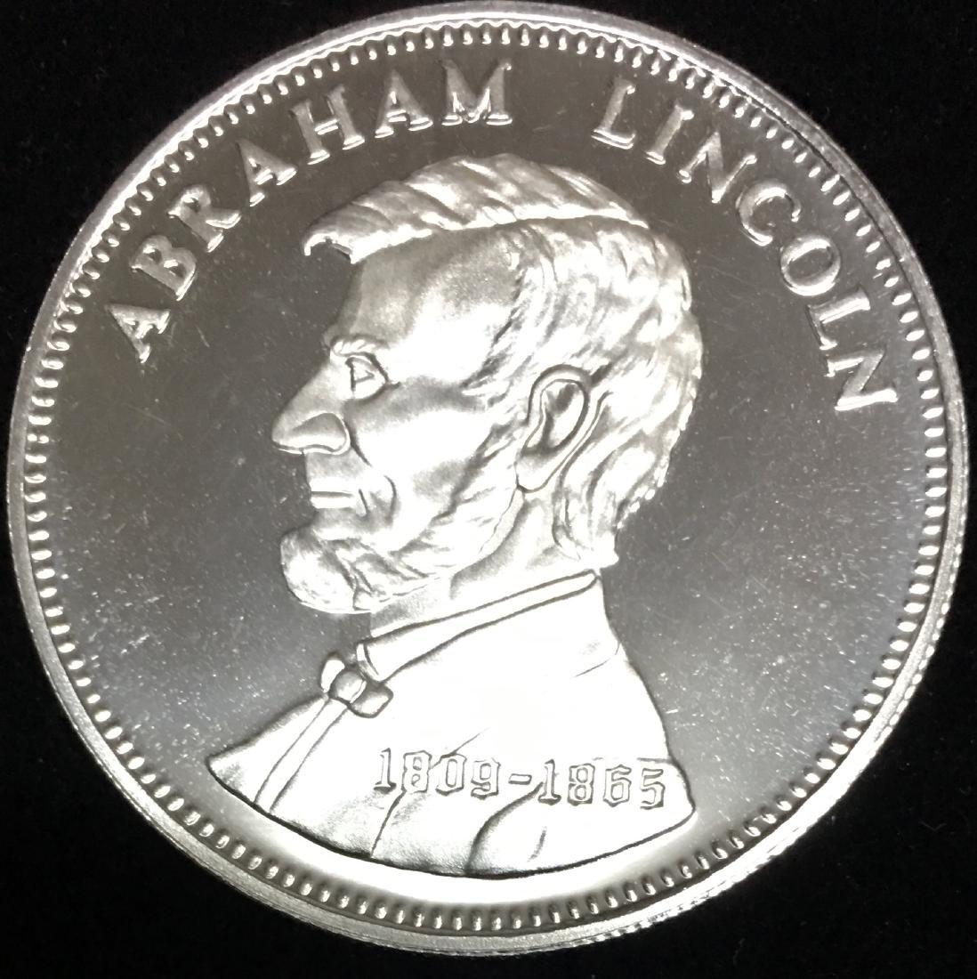 1806-1865 Abraham Lincoln 0.5 tr. oz..999 Fine Silver