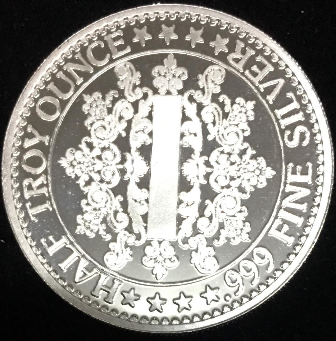 1806-1865 Abraham Lincoln 0.5 tr. oz..999 Fine Silver - 2