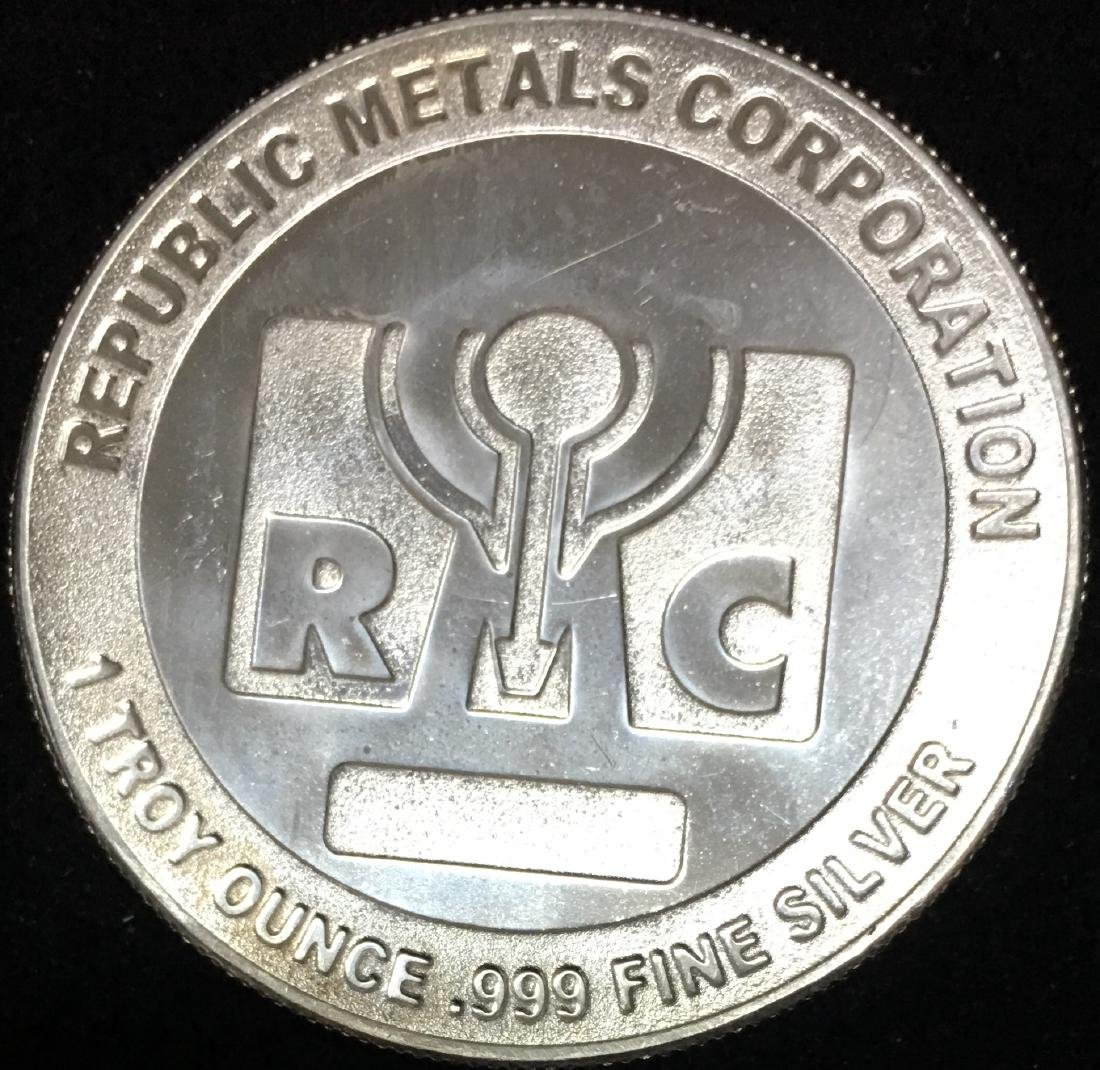 RMC -  Republic Metals Corporation Silver Round 1 tr.