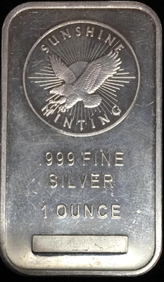 Sunshine Bar 1 oz .999 Fine Silver