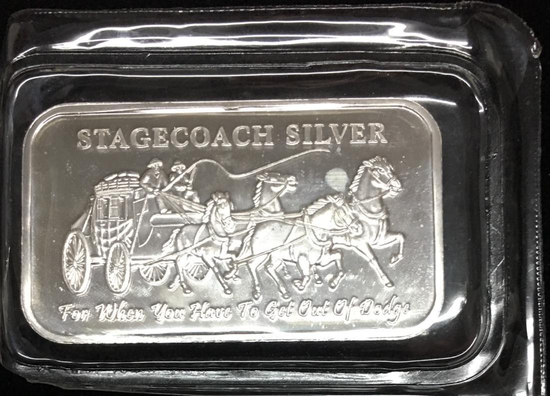 Stagecoach Silver Bar 1 oz .999 Silver Sealed