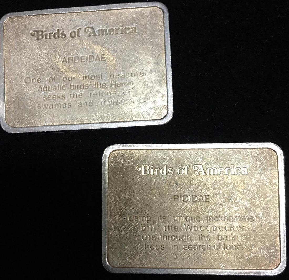 Lot of 2: Woodpecker & Heron Birds of America 24K Gold - 2