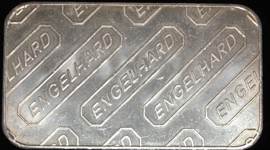 "Engelhard 1 tr oz .999 Fine Silver Bar - ""E"" Design - 2"