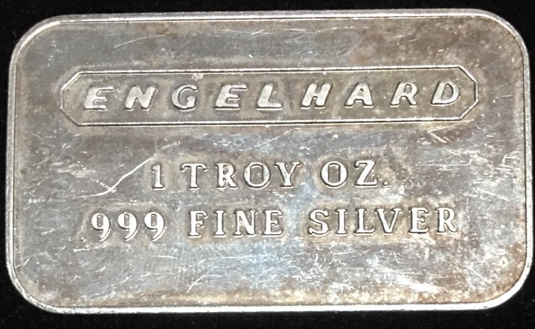 """Engelhard 1 tr oz .999 Fine Silver Bar - """"Powdered"""