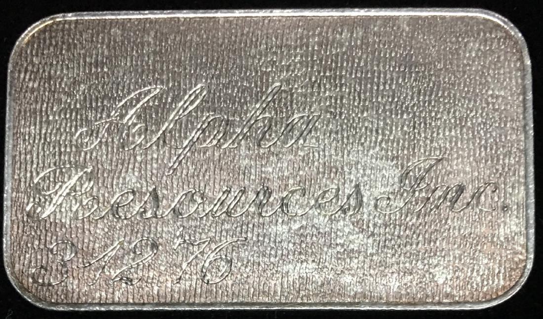 """Engelhard 1 tr oz .999 Fine Silver Bar - """"Powdered - 2"""