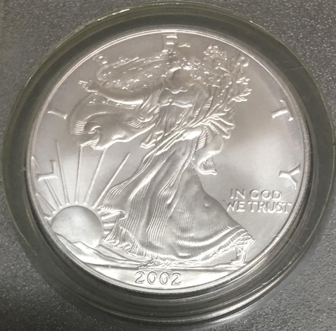 2002 $1 American Silver Eagle DCGS MS69 1 oz. Fine