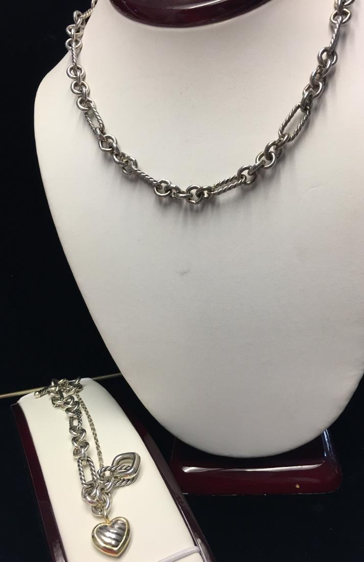 18 Kt & Sterling Lady's Necklace & Bracelet Signed by - 2