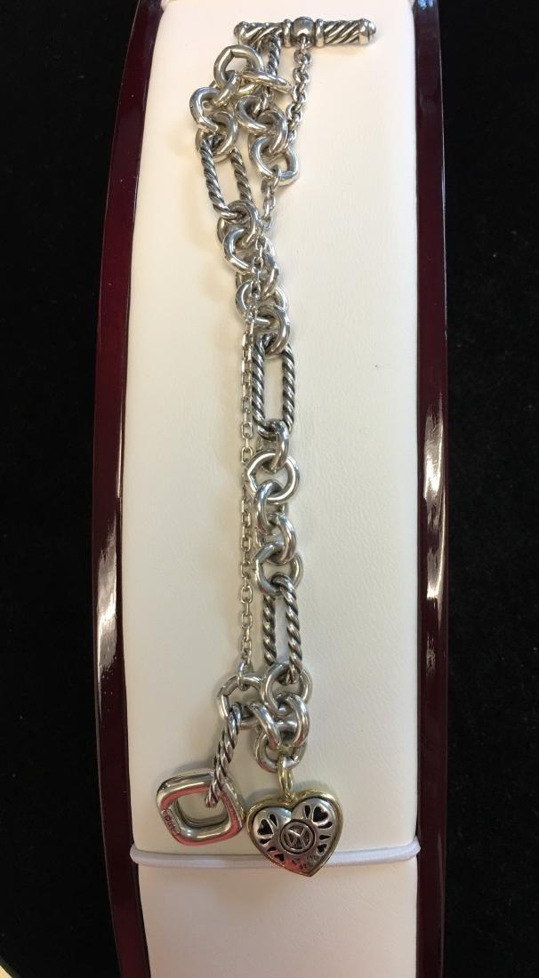 18 Kt & Sterling Lady's Necklace & Bracelet Signed by - 4