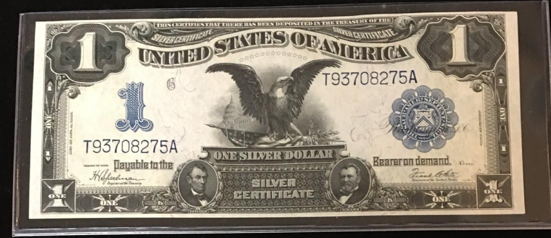 1899 $1 Large Size Silver Certificate Black Eagle GEM