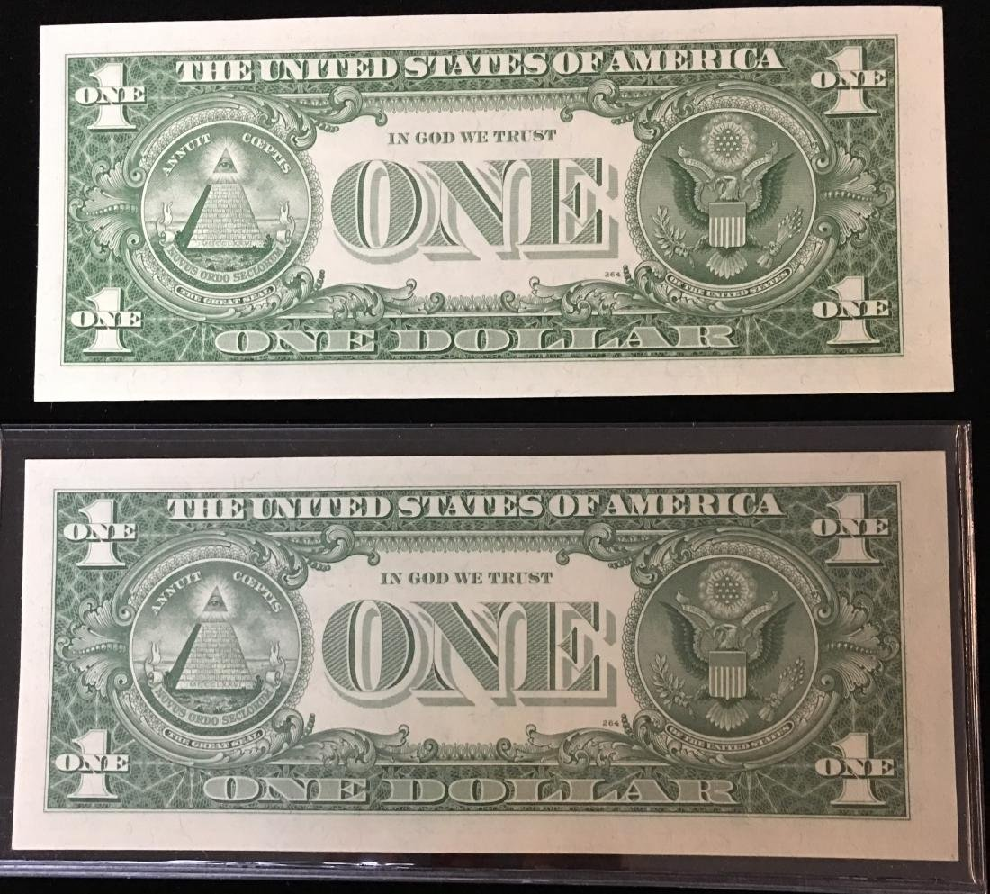 Pair of 1957 $1 Silver Certificates Consecutive - 2