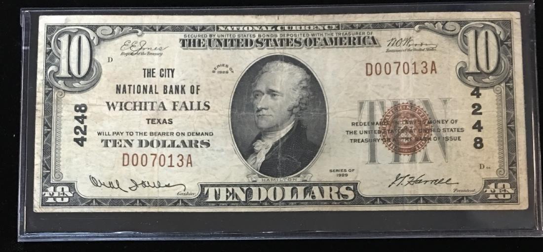 1929 $10 National Currency Charter #4248 Jones/Woods &
