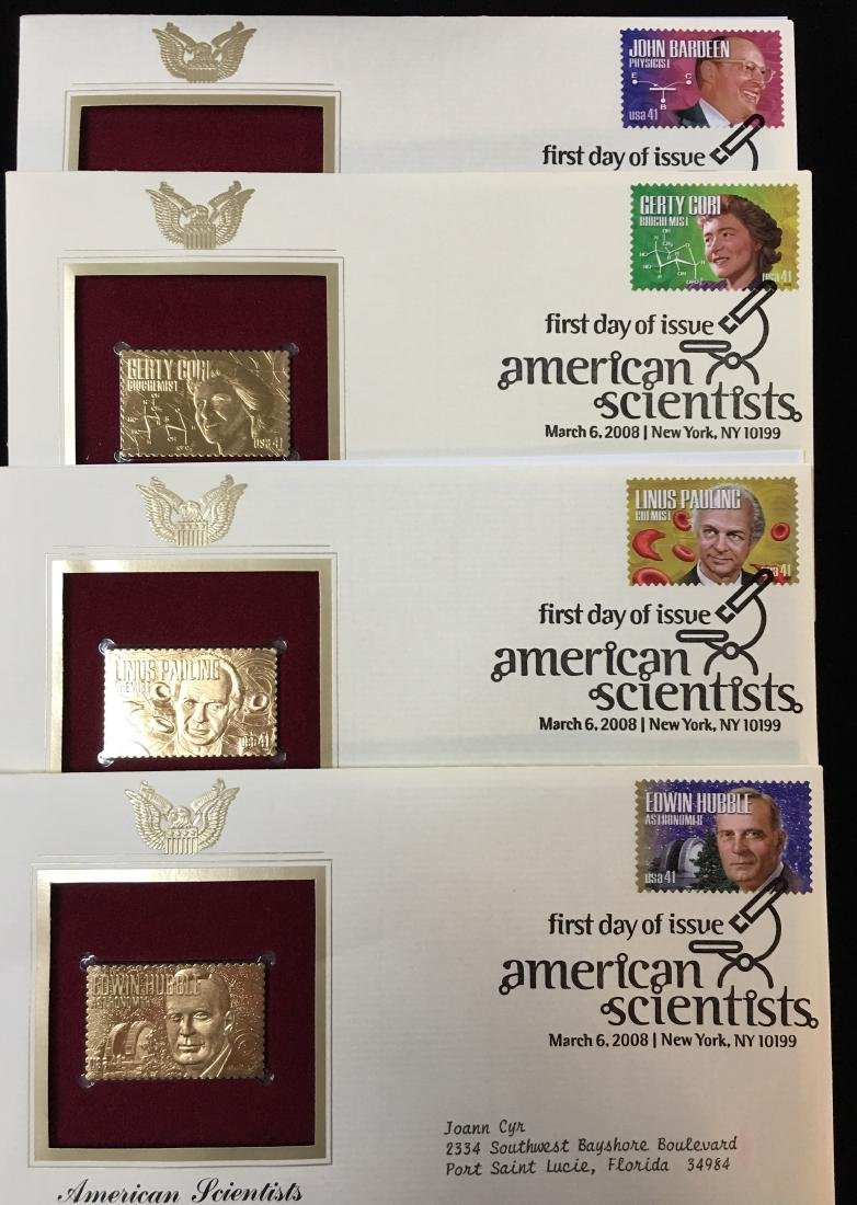 Set of 4 - 2008 USPS 1st Day Issue American Scientists