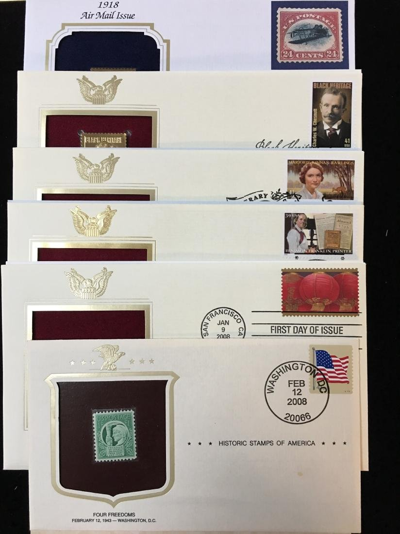 Set of 6 - 2008 USPS 1st Day Issue - Different Series