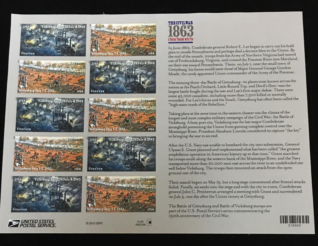Set of 2 - 1994 & 2013 USPS Sheets of Stamps - The - 3