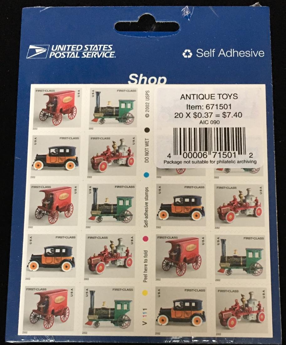 Set of 2 USPS Sheets - Antique Toys and American - 3