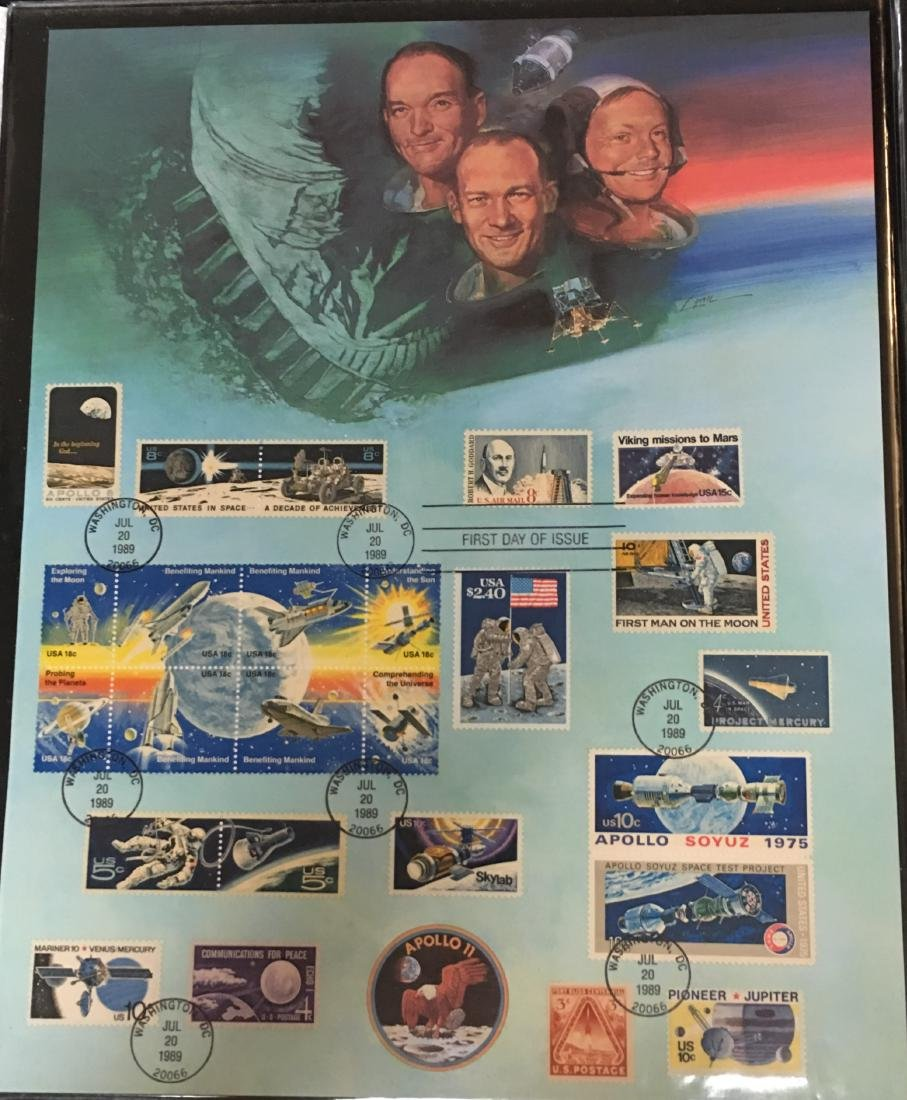 1989 American Space Achievement First Day Issue
