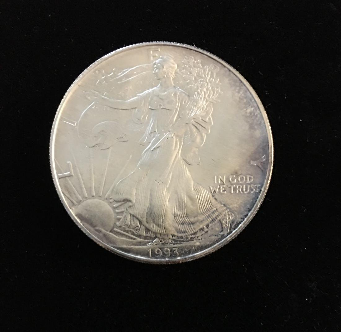 1993 $1 American Silver Eagle BU