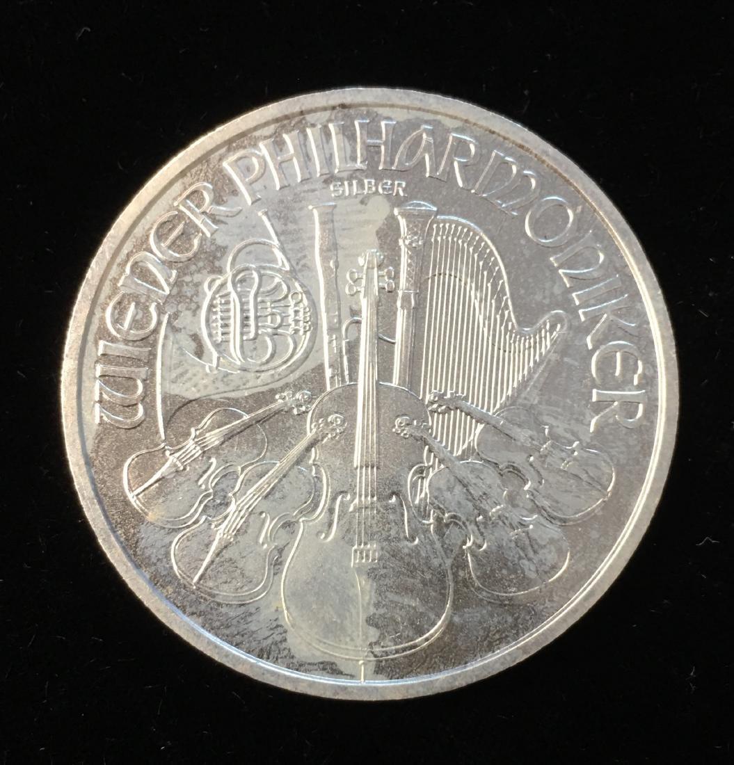 2008 1,50 Euro Austria 1 oz Silver Philharmonic BU