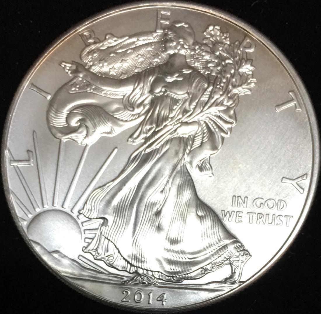 2014 $1 American Silver Eagle 1oz BU