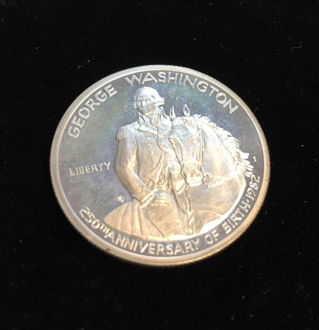 1982-S 50C G.Washington Modern Commemorative Silver - 3