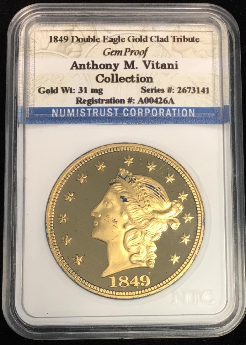 COPY of 1849 Double Eagle Gold Clad Tribute Gem Proof