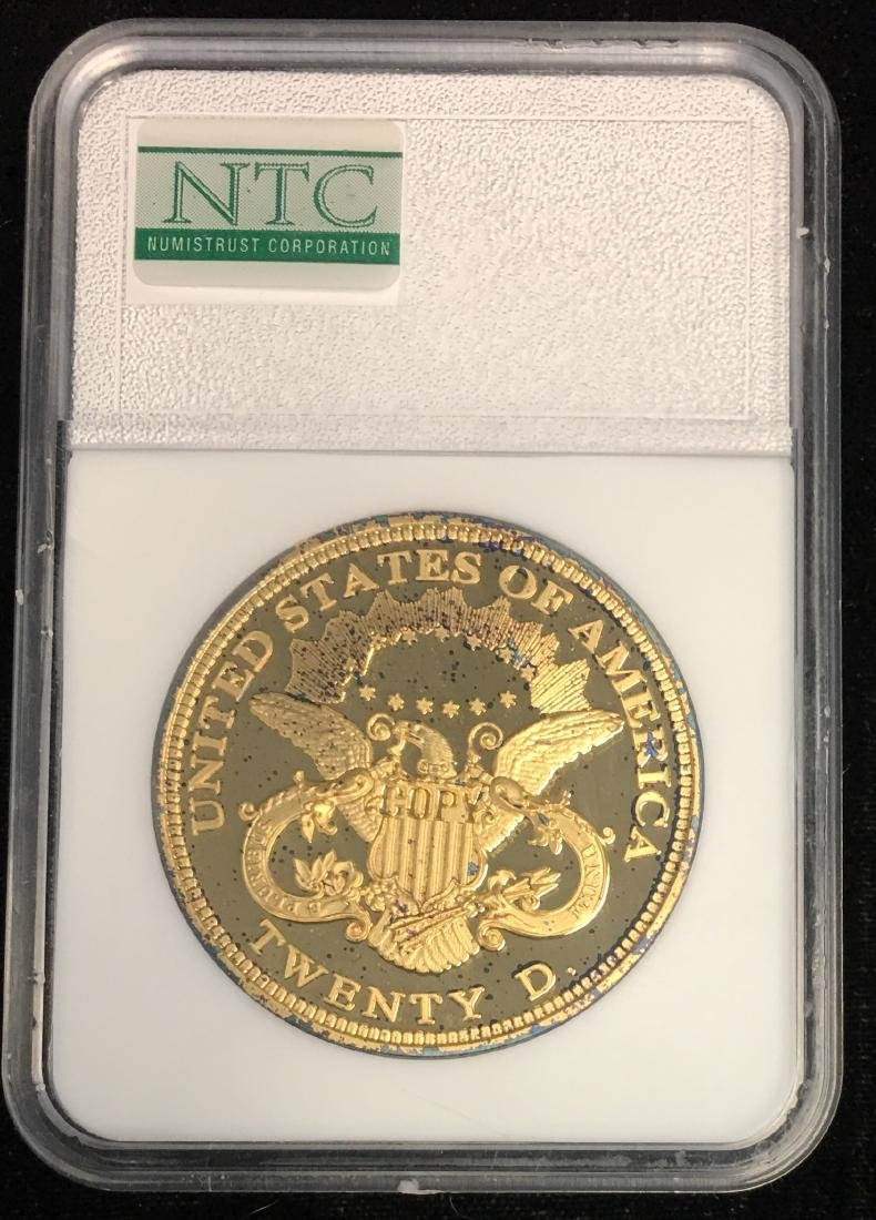 COPY of 1849 Double Eagle Gold Clad Tribute Gem Proof - 2